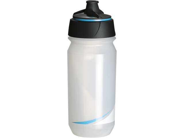 Tacx Shanti Twist Drinking Bottle 500ml, transparent/blue